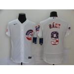 MLB Chicago Cubs #9 Javier Baez White 2020 Nike USA Flag Fashion Jersey