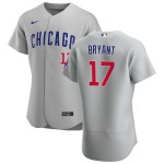 Men's Chicago Cubs #17 Kris Bryant Nike Gray Road 2020 Authentic Team Jersey