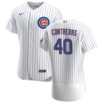 Men's Chicago Cubs #40 Willson Contreras Nike White Home 2020 Authentic Player Jersey