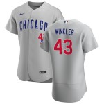 Men's Chicago Cubs #43 Dan Winkler Nike Gray Road 2020 Authentic Team Jersey
