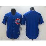 Nike Men's Chicago Cubs Blue Blank Cool base Jersey