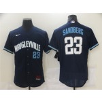 Chicago Cubs #23 Ryne Sandberg Navy 2021 City Connect Flex Base Jersey