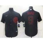 Chicago Cubs #9 Javier Baez Black Shadow Cool Base Jersey