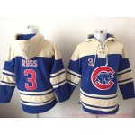 MLB Chicago Cubs #3 David Ross Blue All Stitched Hooded Sweatshirt