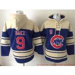 MLB Chicago Cubs #9 Javier Baez Blue All Stitched Hooded Sweatshirt