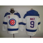 MLB Chicago Cubs #9 Javier Baez White All Stitched Hooded Sweatshirt