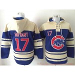 MLB Chicago Cubs #17 Kris Bryant Blue All Stitched Hooded Sweatshirt