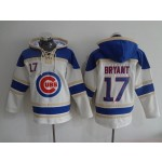 MLB Chicago Cubs #17 Kris Bryant White All Stitched Hooded Sweatshirt