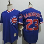 Men's Throwback Chicago Cubs #23 Ryne Sandberg Blue Cooperstown Collection Jersey