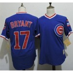 Men's Throwback Chicago Cubs #17 Mark Grace Blue Cooperstown Collection Jersey