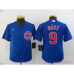 Youth Chicago Cubs #9 Javier Baez Royal 2020 Nike Cool Base Jersey