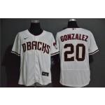 MLB Arizona Diamondbacks #20 Luis Gonzalez White 2020 Nike Flexbase Jersey