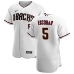 Men's Arizona Diamondbacks #5 Eduardo Escobar Nike White Crimson Authentic Home Team MLB Jersey