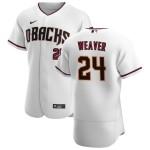 Men's Arizona Diamondbacks #24 Luke Weaver Nike White Crimson Authentic Home Team MLB Jersey