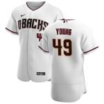 Men's Arizona Diamondbacks #49 Alex Young Nike White Crimson Authentic Home Team MLB Jersey