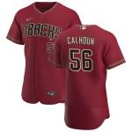 Men's Arizona Diamondbacks #56 Kole Calhoun Nike Crimson Authentic Alternate Team MLB Jersey