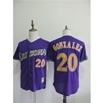 Men's Arizona Diamondbacks #20 Luis Gonzalez Purple Throwback Jersey