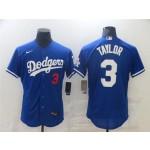 Los Angeles Dodgers #3 Chris Taylor Blue Flex Base Jersey