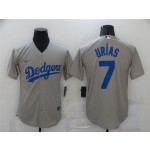 Los Angeles Dodgers #7 Julio Urias Gray Cool Base Jersey