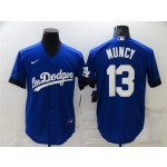 Los Angeles Dodgers #13 Max Muncy Royal Blue 2021 City Connect Cool Base Jersey