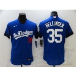 Los Angeles Dodgers #35 Cody Bellinger Royal Blue 2021 City Connect Flex Base Jersey