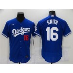 Los Angeles Dodgers #16 Will Smith Royal Blue Flex Base Jersey