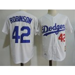 Men's throwback Los Angeles Dodgers #42 Jackie Robinson White 1958 Mitchell & Ness Jersey