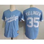 Men's throwback Los Angeles Dodgers #35 Cody Bellinger Sky Blue Cooperstown Collection Jersey