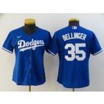 Women Los Angeles Dodgers #35 Cody Bellinger Royal blue 2020 Nike Cool Base Jersey