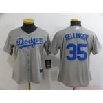 Women Los Angeles Dodgers #35 Cody Bellinger Grey 2020 Nike Cool Base Jersey