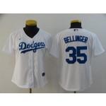 Women Los Angeles Dodgers #35 Cody Bellinger White 2020 Nike Cool Base Jersey