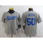 Women Los Angeles Dodgers #50 Mookie Betts Grey 2020 Nike Cool Base Jersey