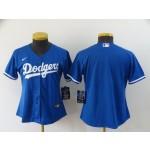 Women Los Angeles Dodgers Blank Royal blue 2020 Nike Cool Base Jersey