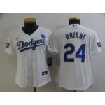 Women Dodgers #8 Kobe Bryant White Women Nike 2021 Gold Program KB Flexbase Jersey