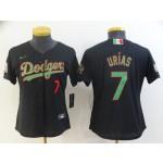 Women Los Angeles Dodgers #7 Urias Black Game 2021 Nike MLB Jersey