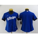Women's Los Angeles Dodgers Blank Royal Blue 2021 City Connect Cool Base Team Jersey