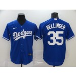 Youth Los Angeles Dodgers #35 Cody Bellinger Royal blue 2020 Nike Cool Base Jersey