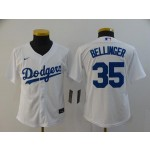Youth Los Angeles Dodgers #35 Cody Bellinger White 2020 Nike Cool Base Jersey