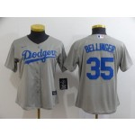 Youth Los Angeles Dodgers #35 Cody Bellinger Grey 2020 Nike Cool Base Jersey