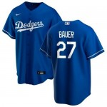 Youth Los Angeles Dodgers #27 Trevor Bauer Royal Jersey