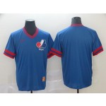 MLB Montreal Expos Blank Blue Nike Throwback Jersey
