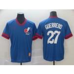 MLB Montreal Expos #27 Vladimir Guerrero Blue Nike Throwback Jersey