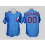 Montreal Expos Custom sky Blue Jersey(Name and number remark in comment column)