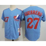 Men's Throwback Montreal Expos #27 Vladimir Guerrero Blue Cooperstown Collection MLB Jersey