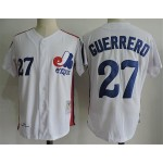 Men's Throwback Montreal Expos #27 Vladimir Guerrero White Cooperstown Collection MLB Jersey