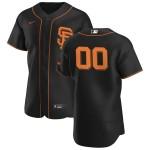 Men's San Francisco Giants Custom Nike Black Alternate 2020 Authentic Flexbase MLB Jersey(Name and number remark in comment column)