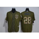 MLB San Francisco Giants #28 Buster Posey Olive 2020 Nike Cool Base Jersey