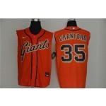 MLB San Francisco Giants #35 Brandon Crawford Orange Nike Cool Base Sleeveless Jersey