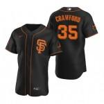 Men's San Francisco Giants #35 Brandon Crawford Nike Black Alternate 2020 Authentic Player MLB Jersey