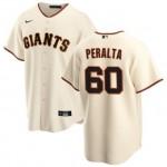 Men's San Francisco Giants #60 Wandy Peralta Nike Cream Home 2020 Coolbase Jersey